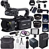 Canon XA11 Compact Full HD ENG PAL Camcorder + 64GB Memory Card + BP-820 Replacement Lithium Ion Battery Bundle