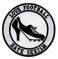 Love Football Hate Sexism Aufnäher von Bienpatch