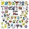OMZGXGOD - 24 pièces Pokémon Mini Figures Action Figurines + 12 pièces Pokémon Bracelets, Enfants et Adultes Party Celebration #3