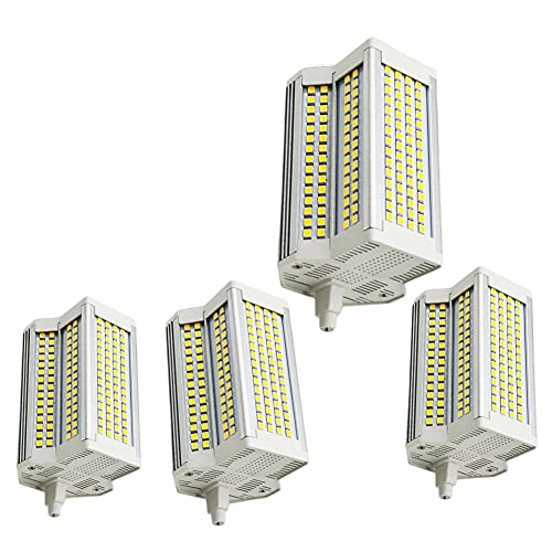 Bulbs 4X Lampadina LED R7S 50W 118mm (4,64''), AC 110V - 240V Lampadina alogena Tipo J a Doppia estremità di Ricambio Lampadina dimmerabile 500W (3000K)