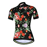 Womens Cycling Jersey Aogda Short Sleeve 3D Silicon Padded Girls...