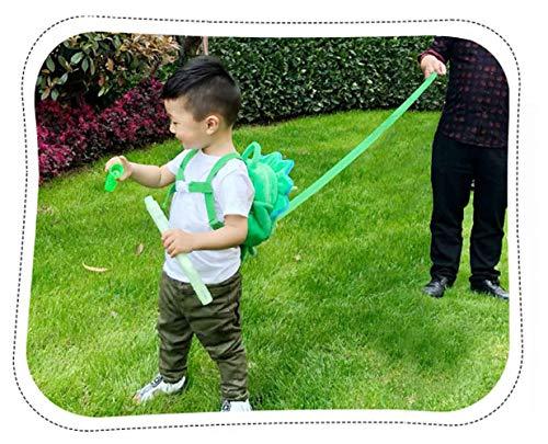 Baby Toddler Safety Harness Backpack Child Kids Cute Cartoon Strap Shoulder Backpack Bag with Reins Leash Rucksack Harness Walkers Tether Belt,for 1-5 Years Old Toddler (Green)