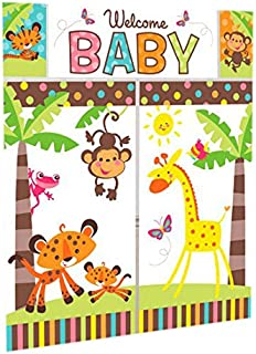Jungle Animals Scene Setter Wall Decorating Kit | Baby Shower Party