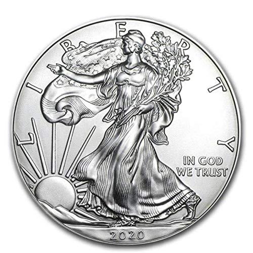 XCDJF 2020 Vereinigte Staaten Freiheitsstatue Gedenkmünze 1 Unze Feinsilber Sammler amerikanische Münze