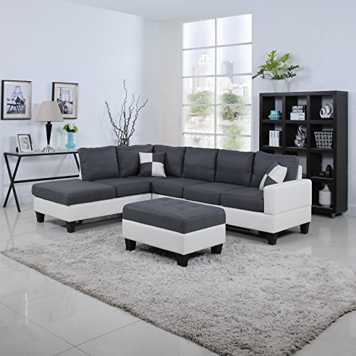 Divano Roma Classic Linen Large Sectional Couch