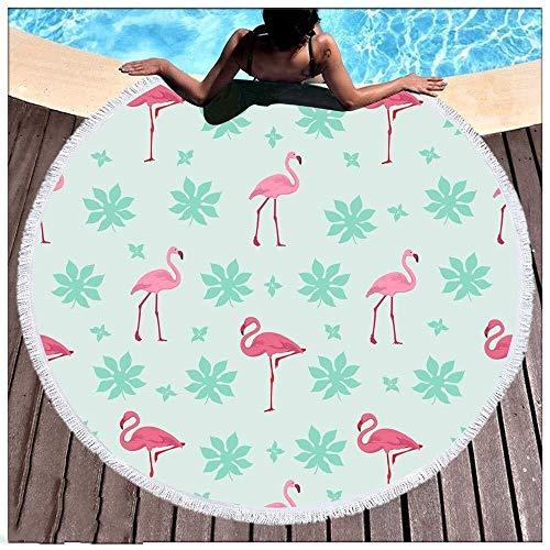 ETH Ronde Strand Handdoeken Tapestry Flamingo Hippie, Gooi Deken Reizen Tafelkleed Meditatie Yoga Mat Muur Opknoping Zwembad Sjaal Camping 150cm duurzaam