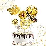 ETHEL Cake Topper Happy Birthday Glitter Cake Topper Kuchendekoration Geburtstag Tortendeko mit...