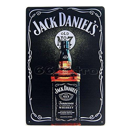 Jack Daniel 's, Vintage Metall blechschild, 20cm x 30cm, Wand Deko Schild von 66retro