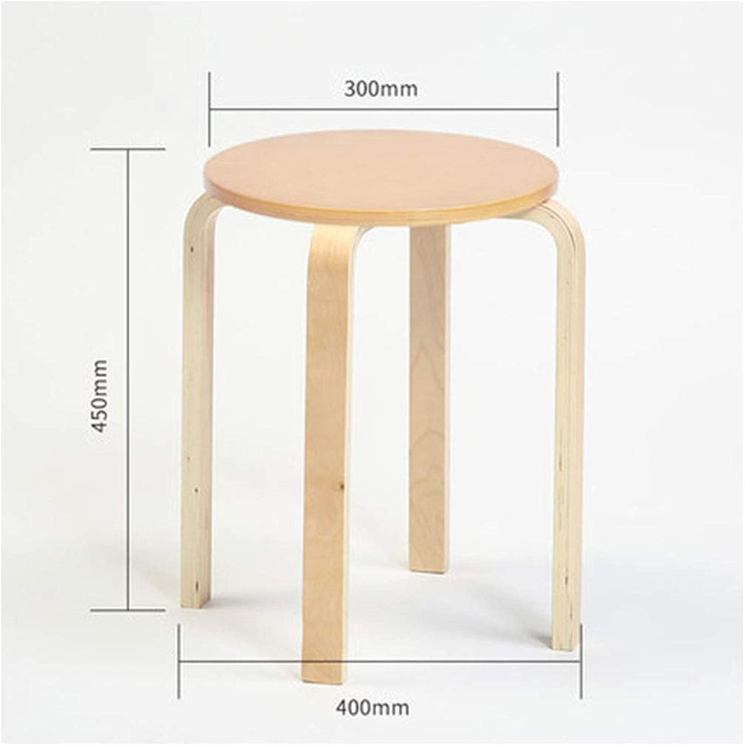 Stools- Wooden Bench- Stool Fashion Creative Home Stool Small Bench Wooden Bench Dining Table Stool Living Room Stool HATHOR-23 (color   C)