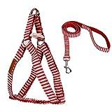 DealMux ajustável Sem Puxe No-Choke Leash Stripe Dog Harness Definir Filhote de controle