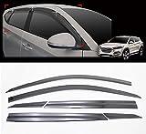 AutoClover D054 Smoke Window Shield Sun Visor Vent Wind Rain 6-pcs 1Set For 2016 Hyundai Tucson : ALL NEW TUCSON