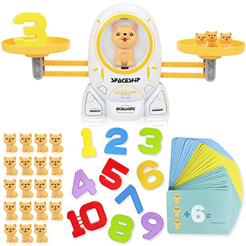 SHANDERBAR Math Educational Games,STEM Toys for 3 4 5 Year olds Cool Math Educational Kindergarten- Number Learning Material for Boys and Girls (Dog...