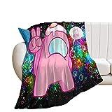 RaglMtC A-mong Us mantas cálidas y cómodas, adecuadas para sofás y camas, para todas las estaciones de la comodidad y regalos de amor de 152 x 200 cm