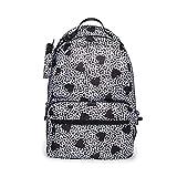 Betsey Johnson Back to School Backpack, Black/White