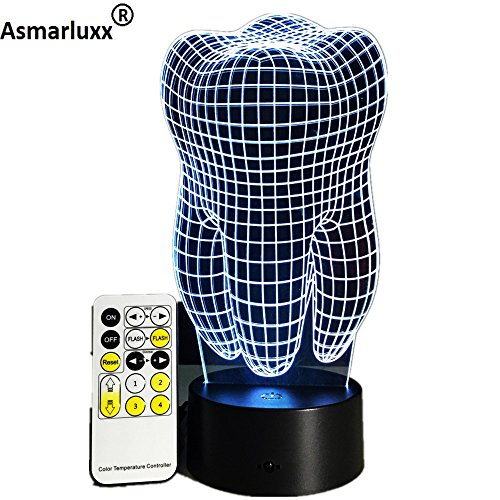 Zahn Luft Flugzeug Eule Alien Kopf Schädel Uhr Hologramm Nachtlicht 3D LED Tischlampe Kinder Geburtstagsgeschenk Nachtzimmer Dekoration
