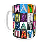 AMAYA Coffee Mug/Cup - using photos of sign letters - personalized