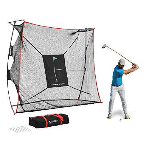 Rukket 9x7x3ft Haack Golf Net Pro   Practice Driving Indoor and Outdoor   Professional Golfing at Home Swing Training Aids   by SEC Coach Chris Haack (Haack Golf Net Pro)