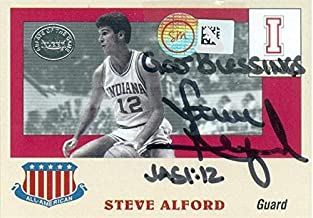 Steve Alford autographed basketball card (Indiana Hoosiers NCAA) 2001 Fleer All Americans #8 hologram on front