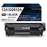 1 Pack Black 12A | Q2612A Compatible Toner Cartridge Replacement for HP Laserjet 1020 1022 1022n 1010 1015 1018 3052 MFP 3055 MFP 3050 MFP 3030 MFP 3020 MFP 3380 MFP M1319f Printers Toner Cartridge.