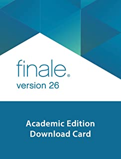 Makemusic Finale 26 Academic Edition Music Notation Software Download Card