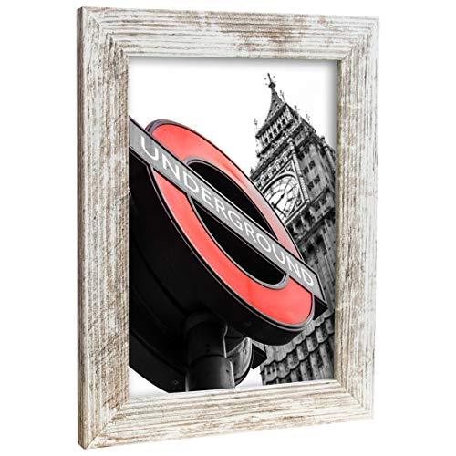Bilderrahmen Fotorahmen 40x50 cm Vintage bilderrahmen zum aufhängen MDF Picture Frames Farbe und 40 Verschiedene Größen wählbar ohne Passepartout Rahmen London