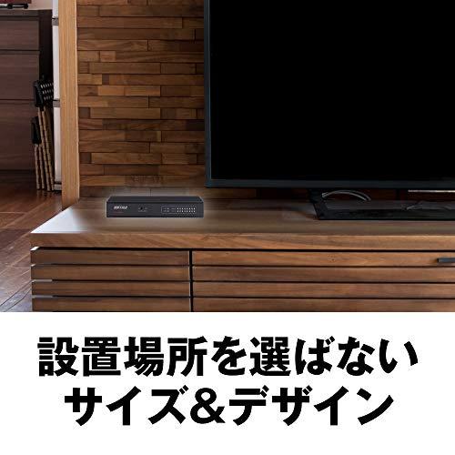 『BUFFALO Giga対応 金属筺体 電源内蔵 8ポート ブラック スイッチングハブ 日本メーカー LSW5-GT-8NS/BK』の2枚目の画像