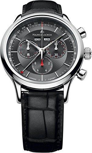 Maurice Lacroix Les CLASSIQUES Herren Schwarz Zifferblatt Kalender Armbanduhr lc1228-ss001–331von Maurice Lacroix