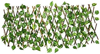 Expanding Trellis Fence Retractable Fence Artificial Garden Plant Fence UV Protected Privacy Screen for Outdoor Indoor Use...