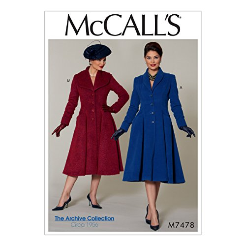 McCall's Patterns Miss Petite Fit and Flare/Shawl Collar Coats