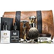 Maison Lambert Deluxe Shaving Kit - Shaving Set - Shaving Soap Kit - Wood Shaving Set - Vintage Shaving Kit - Mens Christmas Gifts - Wood Shaving Bowl - Mens Gifts - Gifts for Dad - Gifts