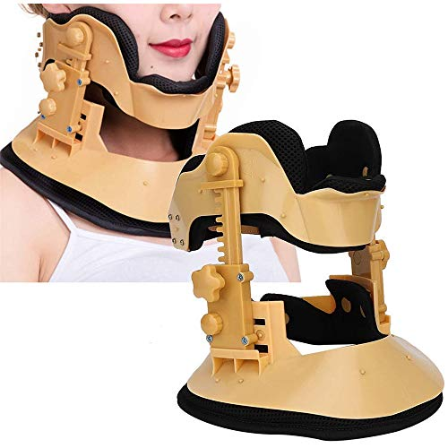 LIUDOU Cervical Traction Device,Neck Fixer New Adjustable Lifting Neck SupportAdvanced Cervical Collar Double Post Adjustable Home Neck Recovery Device
