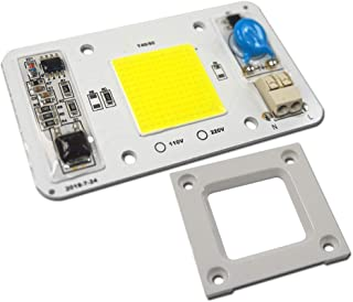 Nagulagu 10PCS 50W Cold White 20000K AC110V COB LED Lamp Chip Smart IC Driver No Welding Light Lamp,Fit For DIY LED Floodlight Spotlight LED