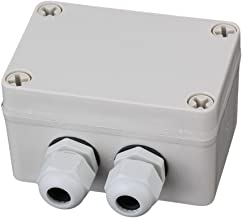 RDEXP White Gray Plastic Waterproof 6 Position Terminals Electric Junction Project Box