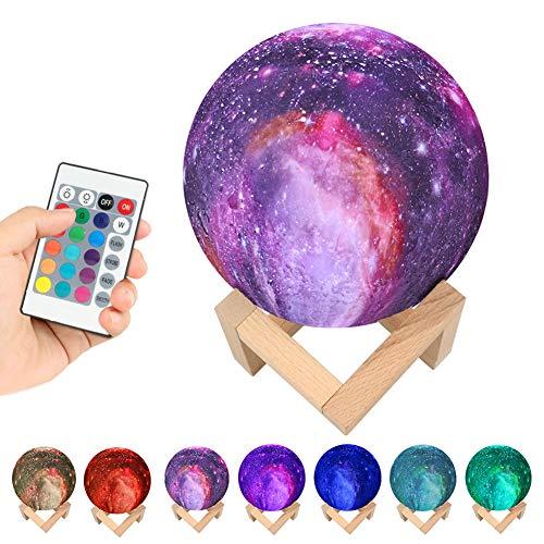 3D Mondlampe Stern Himmel Planet Lampe Farbe Touch austauschbar Led Nachtlicht Galaxy Lampe Schlafzimmer Dekor Kreatives Geschenk 15CM
