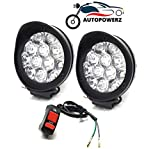 AUTOPOWERZ LED Fog Lights for Bikes and Cars High Power, Heavy clamp and Strong ABS plastic. (12 led cap set)
