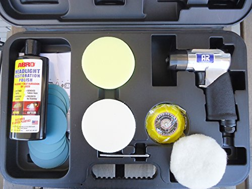 Polisseuse à la réparation des phares de voiture et la feuille (kit)