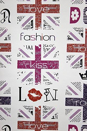 Vlies Tapete Fashion Style Jugend Zimmer Girls Tapete weiß pink lila schwarz