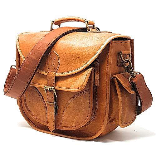 rofozzi Leather Camera Bag for Women