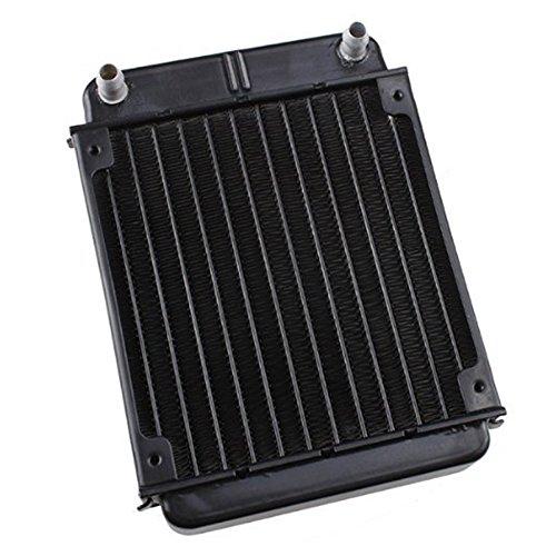 Cobeky Radiador intercambiador de calor de aluminio negro...