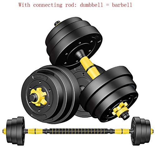 JESU verstellbare Hanteln, Langhantel-Set, mit Verbindungsstück, Hanteln für Körper-Workout, Heim-Fitness-Hantel-Set für Männer und Frauen, Fitness-Hantel-Set, 1 Paar, 40 kg