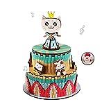 U-A Rompecabezas de Madera Caja de música 3D, DIY Kit de fabricación Modelo, Enigma Regalos para niños y Adultos, un Sombrero de Santa (Princesa del Gato)