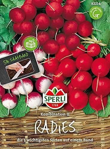 82214 Sperli Premium Radieschen Saatband Kombi 2   Best of Radieschen   3 Sorten   Radieschen Samen Saatband   Radieschensamen
