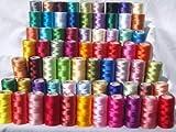 Set de 50 x Bobinas de hilo de Seda para bordar de máquina de coser Muy Buena Calidad