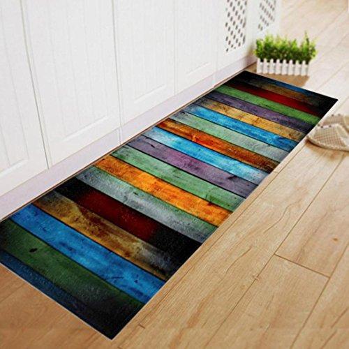 SOMESUN Teppich Essen Zimmer Teppich Weich Bereich Teppich Schlafzimmer Rechteck Fußboden Nicht gleiten Matte 60 * 180cm