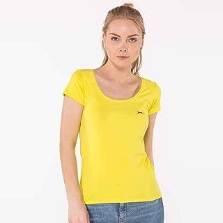 Slazenger YONCA Kadın 0 Yaka T-Shirt Sarı