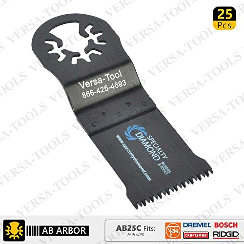 Best Buy! Versa Tool AB25C 35mm Japan Cut Tooth HCS Multi-Tool Saw Blades 25/Pk Fits Fein Multimaste...