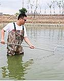 XBSXP Botas de Pesca, vadeadores de Pecho, Botas de Pesca vadeadores de Caza Pie de Bota con cinturón de vadeo Botas Impermeables Botas de vadeo de Nailon y PVC Transpirables para Hombre