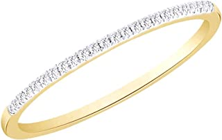 Vendita di vacanze taglio rotondo 0,06 cttw bianco diamante naturale Half Eternity Band Anello In oro massiccio 10ct