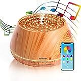 YOUNGDO 400ml Diffusore Aroma Colosseo con Altoparlante Stereo, Colosseo Romano Design Diffusore di Oli Essenziali ad Ultrasuoni con Bluetooth e App