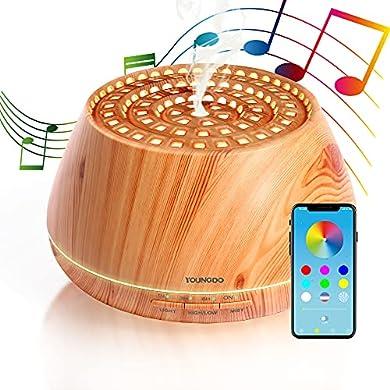 Foto di YOUNGDO 400ml Diffusore Aroma Colosseo con Altoparlante Stereo, Colosseo Romano Design Diffusore di Oli Essenziali ad Ultrasuoni con Bluetooth e App